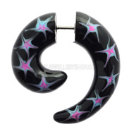 Stars Spiral Fake Ear Stretcher
