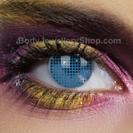 Blue Mesh Coloured Contact Lens