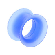 Blue Silicone Flesh Tunnel
