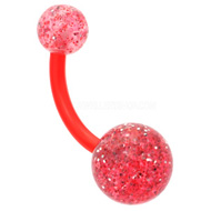 Glitter UV Red Belly Bar