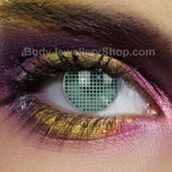 Green Mesh Coloured Contact Lens