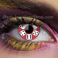 Lucky Dice Gothic Contact Lenses