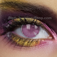 Pink Mesh Coloured Contact Lens