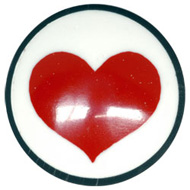 Single Heart Flesh Plug
