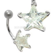Star Crystal Belly Bar