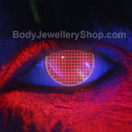 i-Glow Red Screen UV Contact Lenses