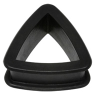Black Silicone Triangle Flesh Tunnel