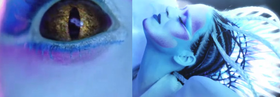 Gold Katy Perry ET Contact Lenses