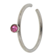 Pink Jewel Fake Nose Ring