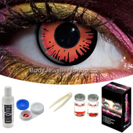 Red Twilight Contact Lens Set