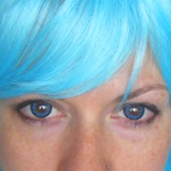 Wearing Cool Blue Contact Lenses