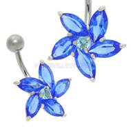 Daisy Jewel Belly Bar