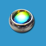Steel Clip in Smooth Rainbow Jewelled Ball