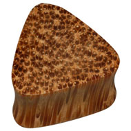 Triangular Coconut Wood Flesh Plug
