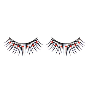 False Red & White Eyelashes