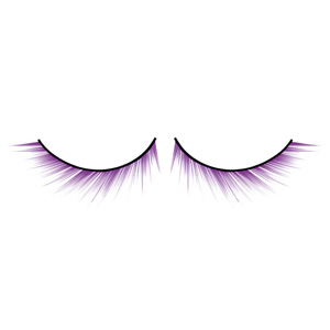 Purple Eyelashes