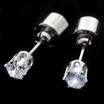 Clear CZ Light Up Earrings