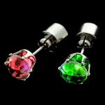 Multi-Colour CZ Light Up Earrings