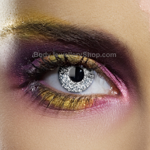 Silver Glimmer Contact Lenses