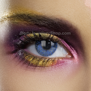 Blue Glimmer Contact Lenses