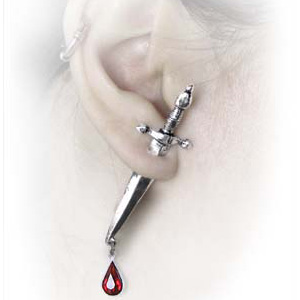 Alchemy Gothic Cesares Veto Earring