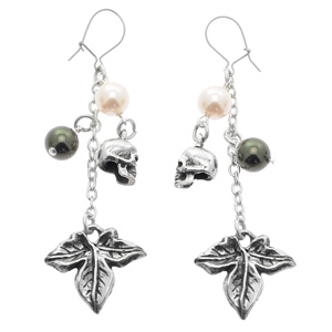 Alchemy Gothic Poison Ivy Drop Earrings