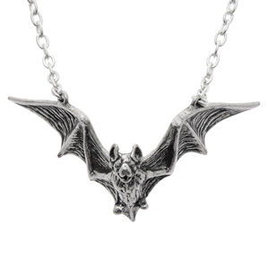 gothic antique necklace bat il silver jewelry etsy goth market pendant