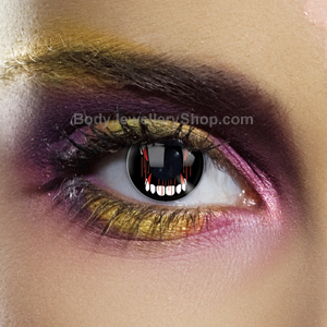 Dracula Fangs Contact Lenses