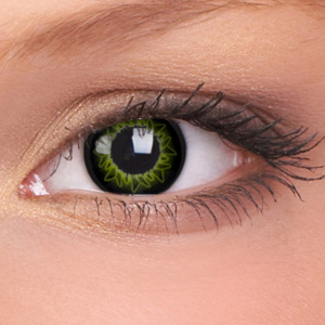Starburst Green Contact Lenses