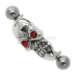 Skulls Eyebrow Barbell