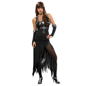 Womens Vampire Black Dress Costume