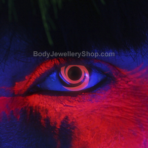 Red Swirl UV Contact Lenses
