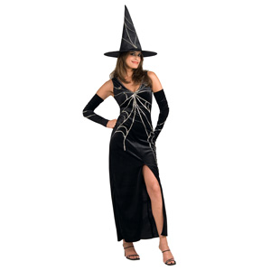 Black Web Spinner Witch Outfit