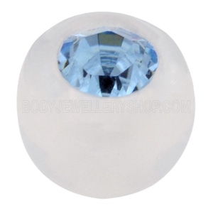 Clear Jewelled Push Fit Ball