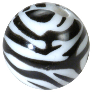 PMMA Threaded Zebra Ball