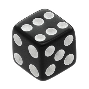 UV Fluoro Black Threaded Dice