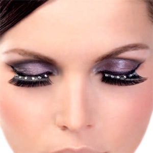 Diamante White False Eyelashes