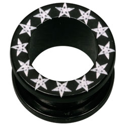 Stars Black Acrylic Flesh Tunnel
