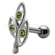 Jewelled Ovals Tragus Stud
