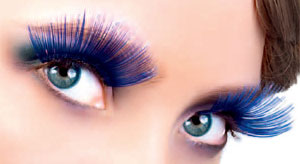 coloured false eyelashes