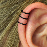 Clip-On Blackline Ear Cuff