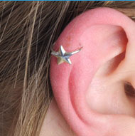 Clip-On Star Ear Cuff