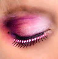 Pink Diamante False Eyelashes