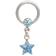 Krystal Star Ball Closure Ring