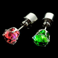 Multi-Colour Light Up CZ Earrings
