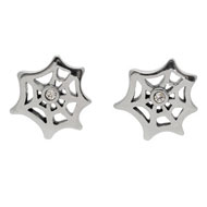 Spider Web CZ Earrings