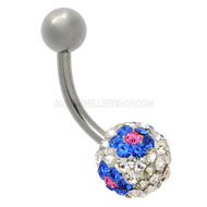 Crystal Flower Belly Piercing Jewellery