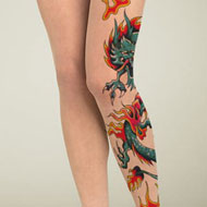 Fire Dragon Tattoo Stockings