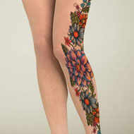 Flower Tattoo Stockings