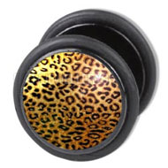 Leopard Fake Flesh Plug